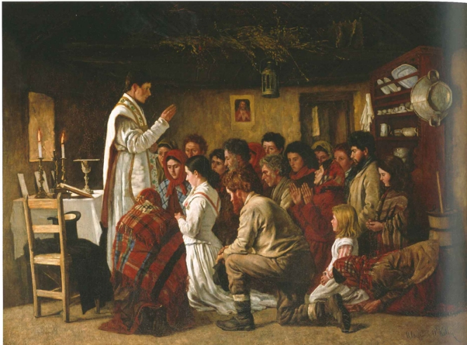 Aloysius O'Kelly, Mass in a Connemara Cabin (c.1883)
