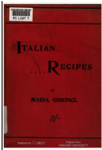 A 1900 cookbook that Guy is using in his study.
